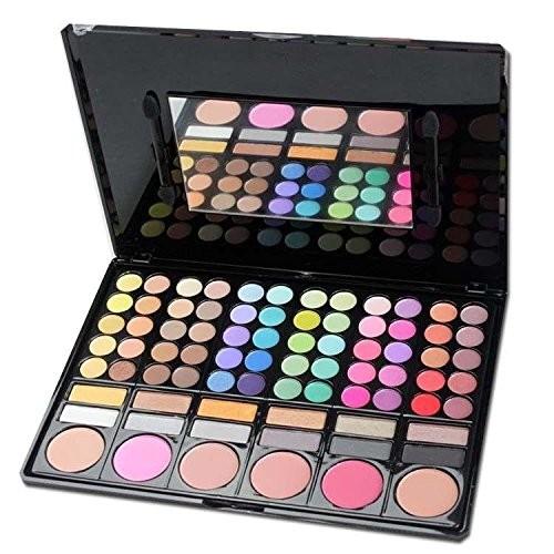 Smokey eye makeup 78 colors eye shadow powder SFD Professional eyeshadow palette