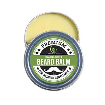 Beard Balm - Tobacco & Vanilla Softens The Beard, Tames The Strays, adds Definition, and Gives a Nice Manly Shine.