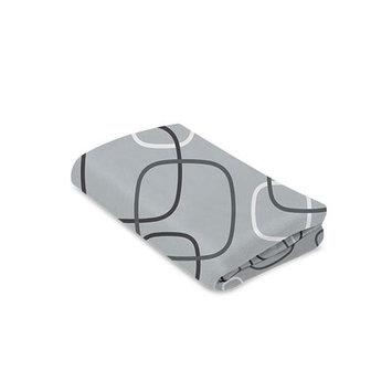 4moms breeze playard waterproof, machine washable playard sheets, silver/white