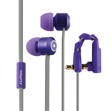 Cliptec Purple Curve Music Stereo 3.5mm Wired In-Ear Headphones Noise Isolation In-line Control /Mic