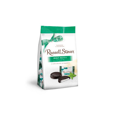 Russell Stover Chocolates Russell Stover 6 OZ Dark Chocolate Mint Patties Favorites Bag
