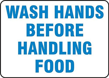 Accu Form WASH HANDS BEFORE HANDLING FOOD