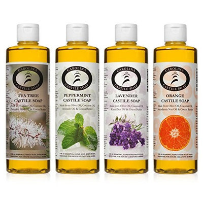 Castile Soap Variety Pack - 4-16 Oz Bottles - Carolina Castile