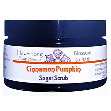 Flowersong Cinnamon Pumpkin Sugar Scrub - Soften, Moisturize and Exfoliate in One Step