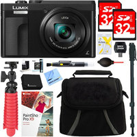 Panasonic LUMIX DMC-ZS70K 20.3 MP Digital Camera (Black) + 32GB Dual Memory Accessory Kit