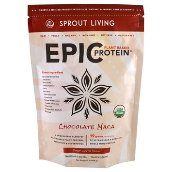 Sprout Living, Epic Protein, Chocolate Maca, 1 lb (454 g) [Flavor : Chocolate Maca]