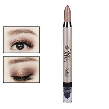 Rosenice Eye shadow Pencil Big Smokey Eyes Shimmer Makeup Glitter Eye Liner Pen (Brown)