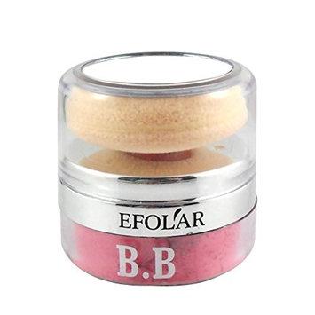 Frcolor Cosmetic Powder Blush Cheek Blusher with Round Powder Puff Sponge Cushion(No.1 Color)