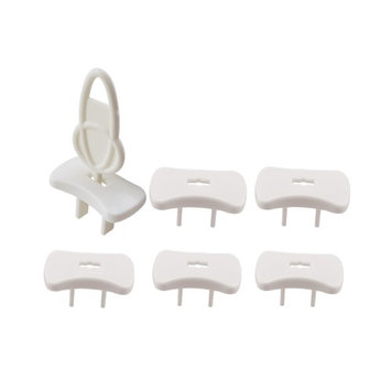 EliteBaby Cover Outlet Plug Protector With Key For Baby Safety, 6 Pack