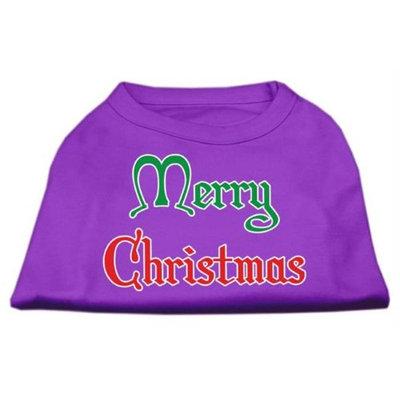 Mirage Pet Products 512511 XXXLPR Merry Christmas Screen Print Shirt Purple XXXL 20