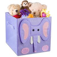 Handy Laundry Kids Foldable Cube Storage Bins - Elephant