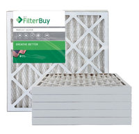 AFB Silver MERV 8 23.5x23.5x2 Pleated AC Furnace Air Filter. Filters. 100% produced in the USA. (Pack of 6)