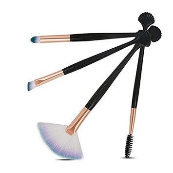 Baomabao 4pcs Cosmetic Makeup Brush Blusher Eye Shadow Brushes Set Kit