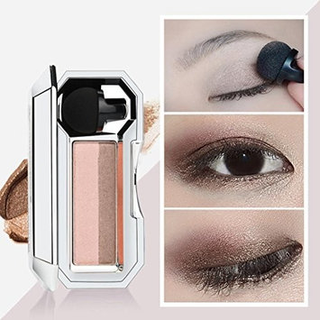 YOYORI Two-color Waterproof Eyeshadow Stamp Shimmer Glitter Double Color Eyeshadow Palette Flexibility Lasting Eye Shadow Powder Cosmetic Makeup