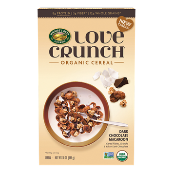 Nature's Path Love Crunch Dark Chocolate Macaroon Cereal