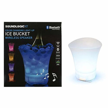 Soundlogic Ice Bucket Multi Colored Color Changing Wireless Bluetooth Waterproof Speaker Connect And Stream USB Wire Included Perfect For Special Occasions Parties Outdoors Campfires And More (1 Unit)