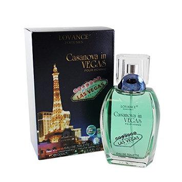 Lovance Perfumes Casanova In Vegas Eau de Toilette Spray for Men, 3.4 Ounce