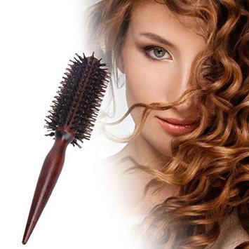 1 Pack Comb Hair Brush Round Anti-Static Wood Wooden Handle Salon Hairdressing Styling Tools Combo Pocket Long Holder Lovely Popular Beard Natural Grooming Girl Travel Kit