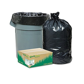 Earthsense Commercial Recycled Large Trash and Yard Bags, 33 gal, .9 mil, 32.5 x 40, Black, 80/Carton
