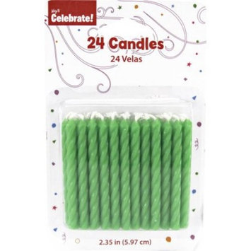 Way to Celebrate Birthday Candles, Lime Green