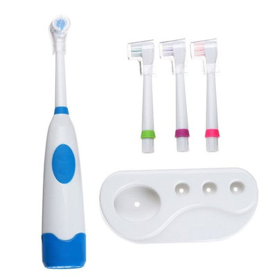Dikley Electric Toothbrush Rotating Electric Toothbrush Battery Powered Toothbrush with Replacement Toothbrush Heads and Electric Toothbrush Holder for Adults Children Age 4+ (Random Color)