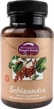 Dragon Herbs - Schizandra 500 mg. - 100 Vegetarian Capsules
