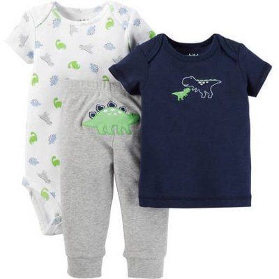 Child Of Mine By Carter's Child of Mine made by Carter's Newborn Baby Boy T Shirt, Bodysuit and Pant Outfit Set 3 Pieces