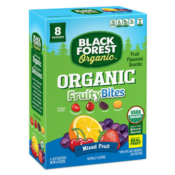 Black Forest Organic Fruity Bites Fruit Snacks, Mixed Fruit, 0.8 Ounce Bag, Pack of 8