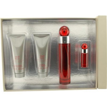 Perry Ellis 360 Red by Perry Ellis Gift Set - 3.4 oz Eau De Toilette Spray + 3 oz After Shave Balm +2.75 oz Deodorant Stick + .25 oz Mini EDT Spray for Men