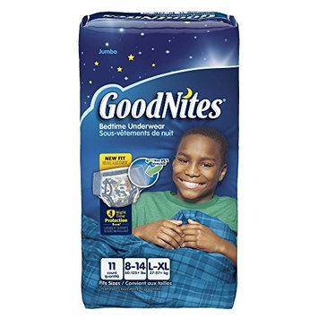 GoodNites Bedtime Bedwetting Underwear for Boys, L-XL, 11 Count (Packaging May Vary)