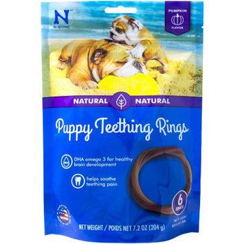 N-bone Nbone 113017 Puppy Teething Rings In Pumpkin, Pack - 6