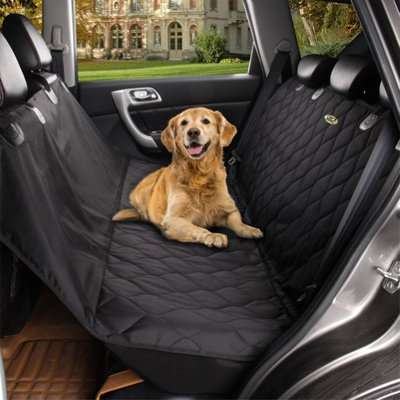 HJZ Waterproof Pet Hammock Car Back Seat Cover in Black