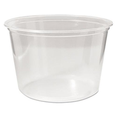 Fabrikal PK16SC Microwavable Deli Containers, 16 Oz, Clear, 500/carton
