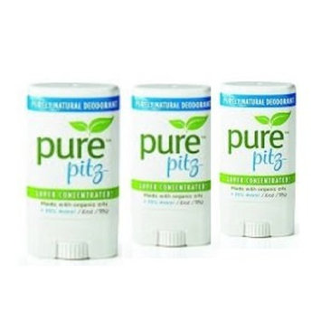Pure Pitz by Purely Lisa Organic & purely natural deodorant (3 PACK)
