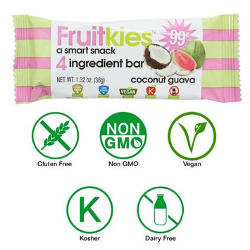 Keep Healthy, Inc Fruitkies Coconut Guava 4 Ingredient Tropical Fruit Snack Bars (Single Bar)
