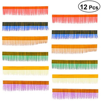 Frcolor 12 Lines False Fake Eyelashes Extension Long Thick Eyelashes Raninbow Color (8mm)