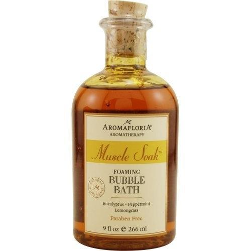MUSCLE SOAK by Aromafloria FOAMING BUBBLE BATH 9 OZ BLEND OF EUCALYPTUS, PEPP... (Package of 5 )