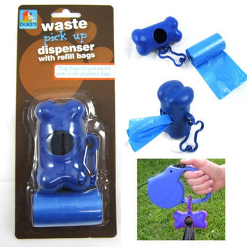 Atb Bone Shape Pet Dog Cat Pickup Poop Bags Dispenser Refill Roll Waste Clean Up!