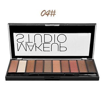 Eyeshadow Palette Matte, Makeupstore Best Pro Eyeshadow Palette Matte, 10 Color Highly Pigmented Makeup Eye Shadow Colors - Professional Vegan Nudes Warm Natural Bronze Neutral Smoky Shades (D)