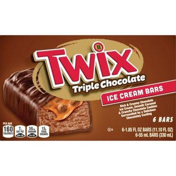 TWIX Triple Chocolate Ice Cream Bars with Chocolate Ice Cream 6-Count Box