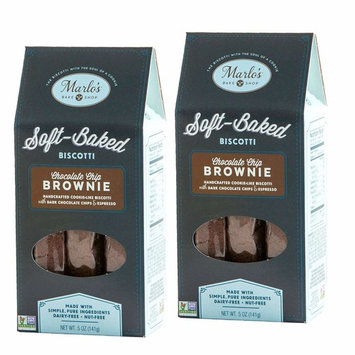 Marlo's Bakeshop, Chocolate Espresso Brownie Biscotti, Gourmet Cookies, Non-GMO, Dairy Free, Soy Free, Nut Free