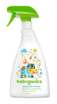Babyganics Stain & Odor Remover Spray, Fragrance Free, 32 Fl Oz