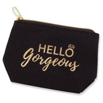 6ct Kate Aspen Hello Gorgeous Canvas Makeup Bag