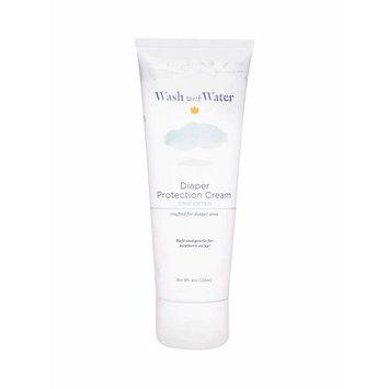 Wash with Water Diaper Cream with Calendula + Moroccan Argan Oil for Diaper Rash, Sensitive Skin & Eczema, 4oz