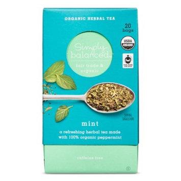 Mint Organic Herbal Tea - 20ct - Simply Balanced™