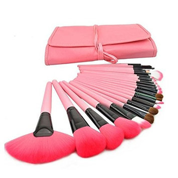 CoKate Makeup Brush Set, 24PC Eyebrow Shadow Cosmetic Makeup Brush Set with Pouch Bag Pink