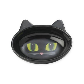 Petrageous Designs Black Cat With Green Eyes Cat Dish