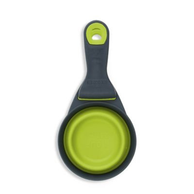 Dexas Collapsible Klipscoop 3 Tools-In-One Scoop, Measuring Cup, And Bag Clip - Green (8 oz)