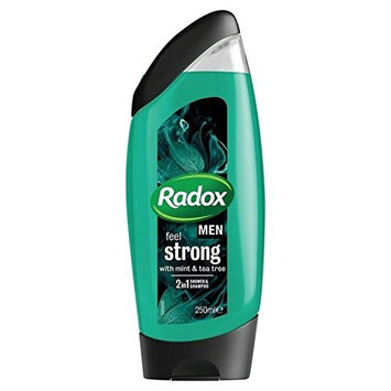 Radox Men Feel Strong Mint & Tea Tree 2in1 Shower Gel 250ml (PACK OF 4)