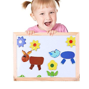 Sandistore Multifunctional Drawing Writing Board Magnetic Puzzle Double Easel Toy